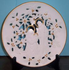 "1993 Lenox The Holy Family Fine Porcelain Plate 9"" Never Displayed Free Us Ship"
