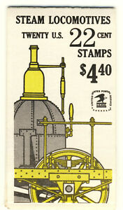 """1987 United States complete MNH Booklet of """"Locomotive"""" stamps"""