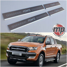 Lockwood Ford Ranger 15> 4x4 Stainless Steel Kick Plate Car Door Sill Protectors