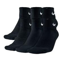 5c29042f6e82cd 3 Paar NIKE Cushion Quarter Socken SX4703 Schwarz Wei Ÿ S M L XL  Sneakersocken