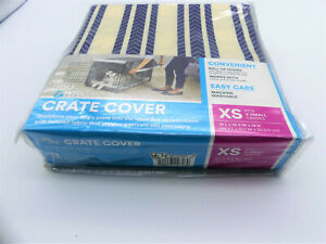 """You & Me Dog Kennel CRATE COVER X-SMALL Navy Striped Fits 19""""L x 12.5""""W x 14""""H"""