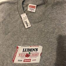 Supreme Luden's T-Shirt Tee Heather Grey Size Medium M