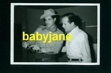 JOHN GAVIN VINTAGE 3X5 PHOTO CANDID IN COSTUME ON FILM SET