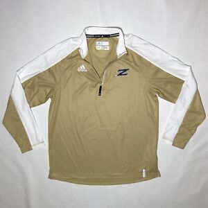 Akron Zips Football adidas Climalite Gold Quarter Zip Z Logo Pullover Large