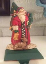 Midwest Importers Cast Iron Santa Stocking Hanger
