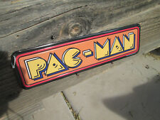 PAC MAN ARCADE GAME METAL SIGN Quality VINTAGE LOOK VIDEO PINBALL AMUSEMENT