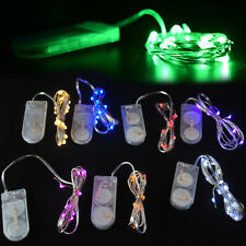 White 10 LED Battery Power Operated Copper Wire Mini Fairy Light String Decor