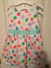 Toddlers Dress Size 5T Cat & Jack Brand White with Polka Dots