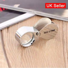 Pocket 30X Magnifier Jeweller Jewelry Eye Glass 21mm Loop Lens Magnifying Loupe