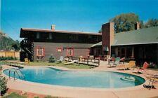 ASPEN COLORADO 1950s Prospector Lodge Pool Dexter postcard 4854