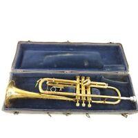 Vintage Harry B Jay Columbia Trumpet Cornet In Original Hard Case