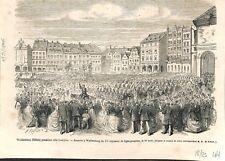Pologne Walbrzych Waldenburg Silésie Parade régiment de Prusse 1866 ILLUSTRATION