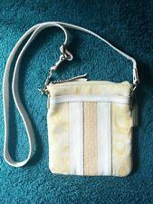 COACH Hampton YELLOW OPTIC Signature Embossed Leather Swingpack Crossbody #42431