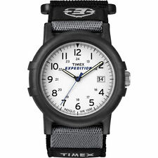 "Timex T49713, Men's ""Expedition Camper"" Black Wrapstrap Watch, Indiglo, Date"