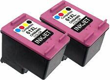 2PK For HP 61XL HP61XL CH564WN Color New Gen Deskjet 3054A 3056 3510 3511 3512
