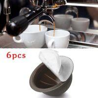 6pcs 150ml Refillable Reusable Coffee Capsule Pod For Nespresso Vertuo Supplies