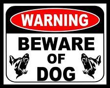 """10"""" x 8"""" BEWARE OF DOG SECURITY GUARD WARNING TRESPASS METAL PLAQUE TIN SIGN 222"""