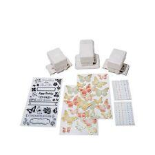 Martha Stewart Frame Border Punch Starter Kit BONUS Clear Stamp and Stickers-NEW