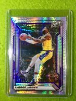 LEBRON JAMES PRIZM CARD JERSEY #23 LAKERS /99 SP REFRACTOR 2019 National VIP SP