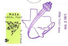 Space NASA Local Post 5c Tied Apollo 15 Moon Liftoff 1971 Houston Unaddressd 5y