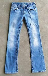 Miss Me Jeans JP5335B 27W x 32.5L Boot Cut Jeweled Bling Embellised Pockets