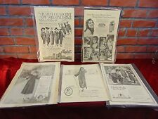 5 Antique 1917-1923 LADIES HOME JOURNAL Full Page FASHION ADVERTISEMENTS Clothes