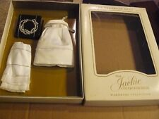 """Franklin Mint /""""Jackie/"""" Doll Box For Jewelry Or Accessories 3x3 Black// Silver"""