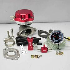 "RED WASTEGATE 8+6 PSI +BOOST CONTROLLER 30PSI +2"" DIGITAL 35PSI BOOST GAUGE"