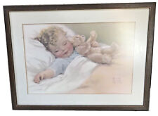 BESSIE PEASE GUTMANN (AMERICAN, 1876-1960) CHILD SLEEPING W/ TEDDY BEAR PRINT