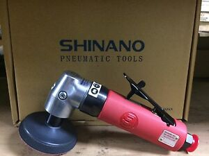 "Shinano Pneumatic SI-2009 3"" Single Action Polisher Brand New Made In Japan"