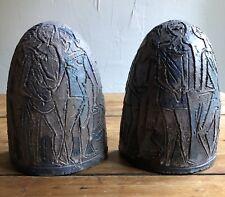 Rare Mid-Century Artisan Boris Chatman Bookends Pottery Modernist