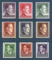 DR Nazi 3 Reich Rare WW2 Stamp '1942-44 Hitler Head Fhurer Birthday in Poland GG