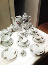 Vintage Porcelain Rose Pattern Tea Set