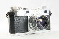 Excellent NIKON S Rangefinder Camera w/ NIKKOR H C 5cm F/2 from Japan #898