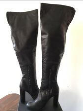TONY BIANCO Thigh High Leather Black Boots US 9