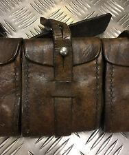 Genuine Swedish Army Leather Ammo Pouch Bandolier Star Wars Tusken Raider Jawas