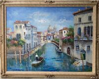 LARGE oil painting on canvas Venice, Italy Unsigned