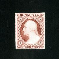 US Stamps # 11A Bright fresh type II w/ 4 margins dist OG H Scott Value $250.00