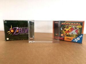 10 x N64 SNES Super Nintendo Game Box Protector 0.3mm UK MANUFACTURE