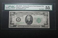 1934 $20 Federal Reserve Note Fr. 2057 - J PMG 55 Star (22043)