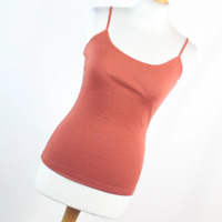 New Look Womens Size S Red Plain Cotton Blend Cami