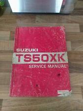 Suzuki TS 50 XK 87-88 Genuine English Workshop Manual Dealer Copy
