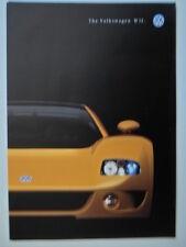 VOLKSWAGEN W12 COUPE Concept Car orig 1998 UK Mkt Publicity Brochure - VW