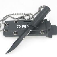 Tragbare Mini Halskette Klinge Obstmesser Outdoor Hunt Survive Hike EDC Werkzeug