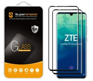 2X Supershieldz Full Cover Tempered Glass Screen Protector for ZTE Axon 10 Pro