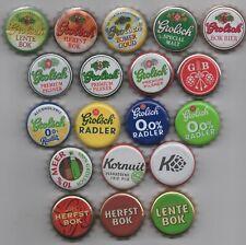 19 different GROLSCH kronkorken beer bottle caps chapas tappi