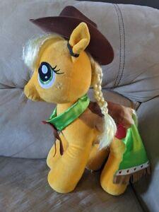 "15"" Build A Bear BAB My Little Pony Applejack Dressed Cowgirl Plush Hat Cape MLP"