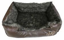 Luxury Soft Warm Fleece LARGE Dog Beds / Pet Bed / Cat Beds in Chocolate Colour