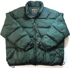 Vintage Woolrich Men's Down Nylon Jacket Coat Green Puffer Parka Size 2XL XXL