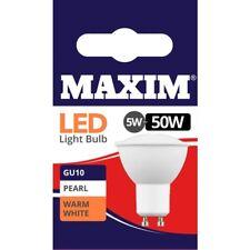 1, 2, 4, 6 or 10 Maxim LED Warm White GU10 Downlight Light Bulbs 5w=50w NEW